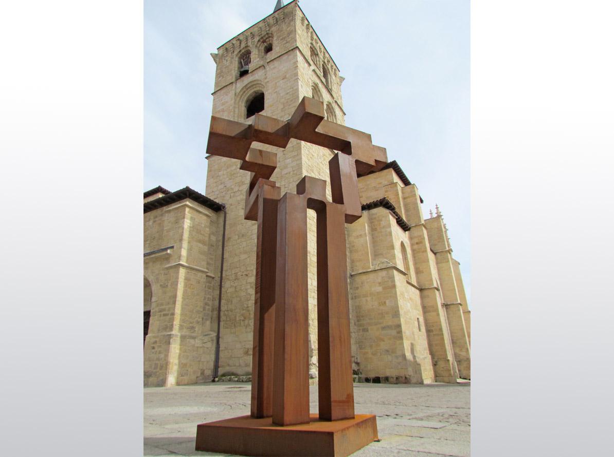Faro de Castilla. Acero Corten. 307 x 220 x 170 cm. Aranda de Duero. 2015 - Carlos Albert Copyright