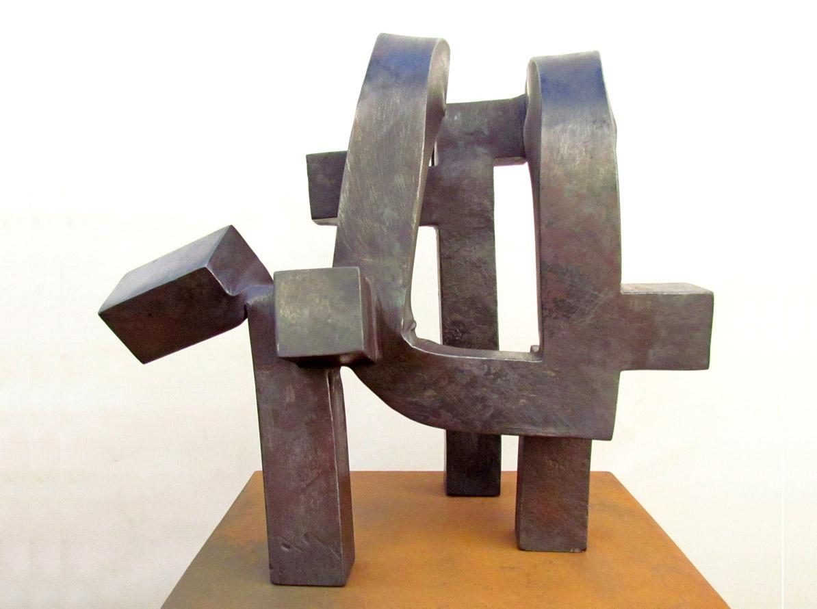 Cadencia. Hierro Forjado. 38 x 40 x 40 cm. 2015. Carlos Albert Copyright